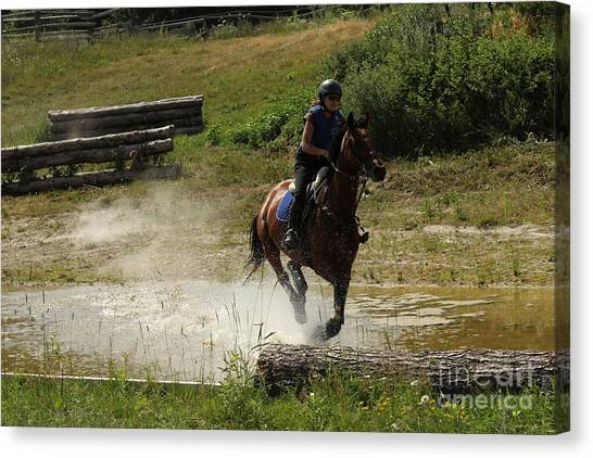 Running Thru Water  Canvas Print