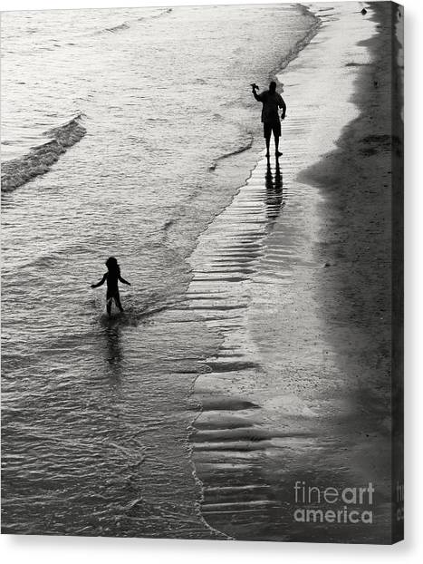 Bikini Canvas Print - Running Wild Running Free by Edward Fielding