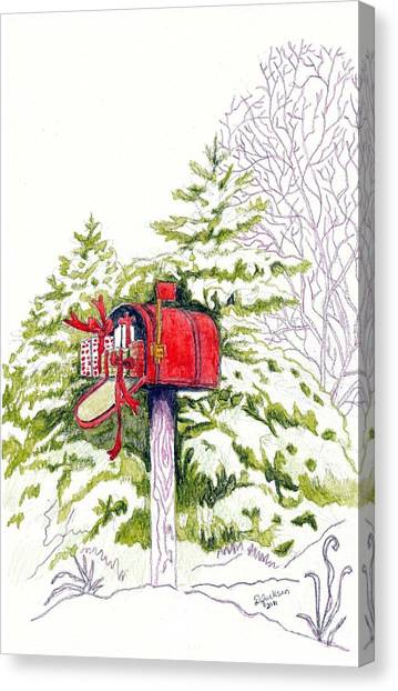 Country Living Christmas Delivery Canvas Print