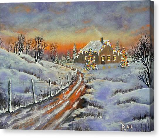 Rural Christmas Canvas Print
