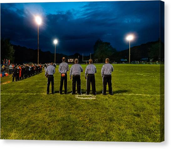 Rural Friday Night Lights Canvas Print by Michael Weaver