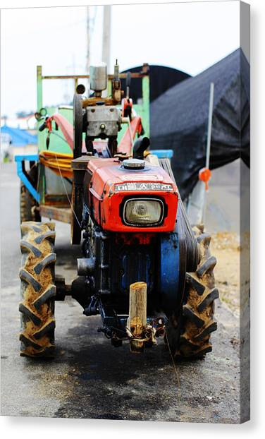 Rural Korean Tractor Canvas Print by Sally Bucey
