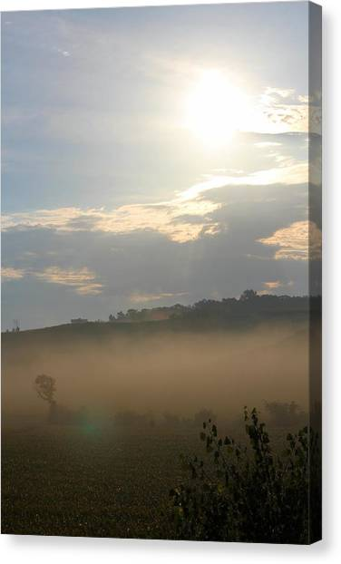 Rural Morning Canvas Print by Angie Phillips