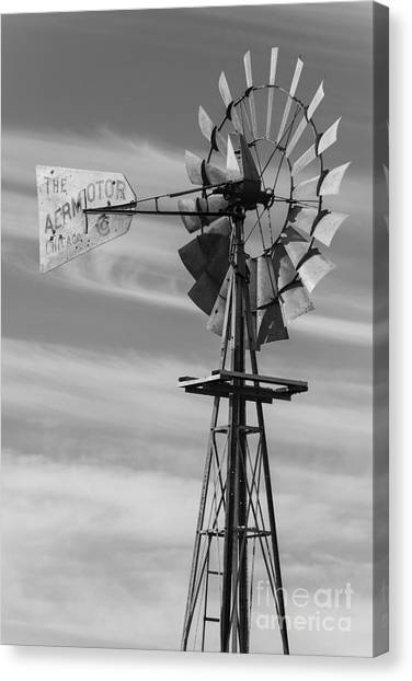 Rural Nebraska Windmill Canvas Print