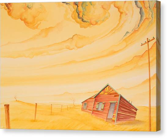 Canvas Print featuring the painting Rural Post Office by Scott Kirby