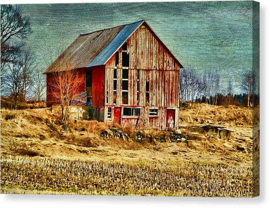 Rural Rustic Vermont Scene Canvas Print