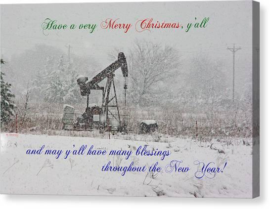 Rural Texas Christmas Canvas Print