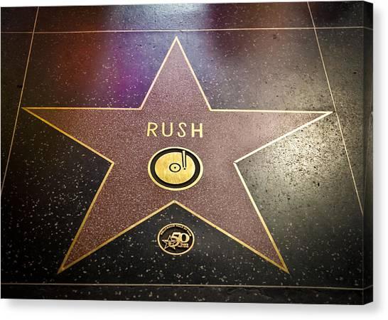 Rush Has A Star Canvas Print