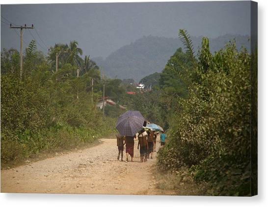 Dirt Road Canvas Print - Rush Hour by Ashley Irwin