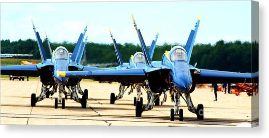 Rush Hour For Angels Canvas Print