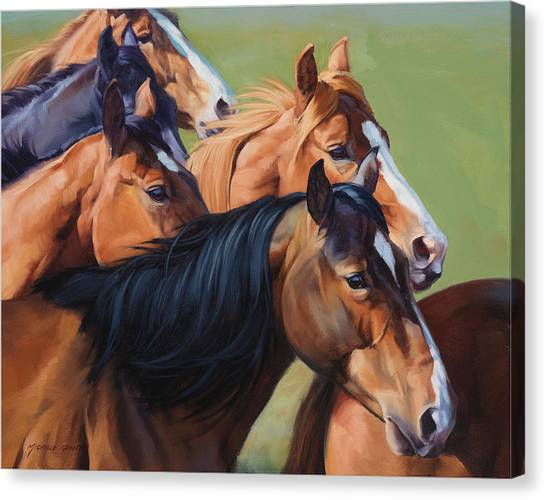 Equestrian Canvas Print - Rush by JQ Licensing