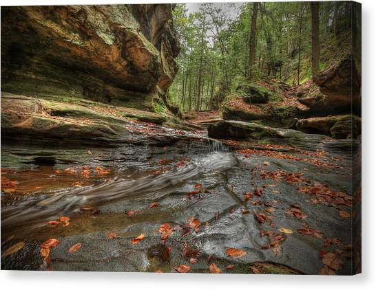 Rush To Old Man's Cave Canvas Print