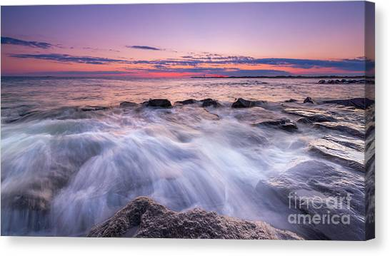 Southern Rock Canvas Print - Rushing In  by Michael Ver Sprill