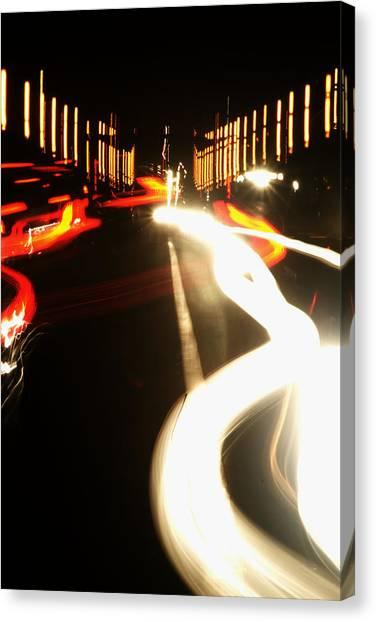 Rushing Traffic Canvas Print