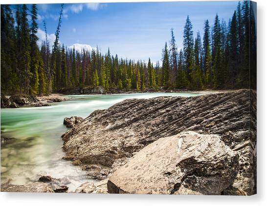 Rushing Water Canvas Print by Chris Halford