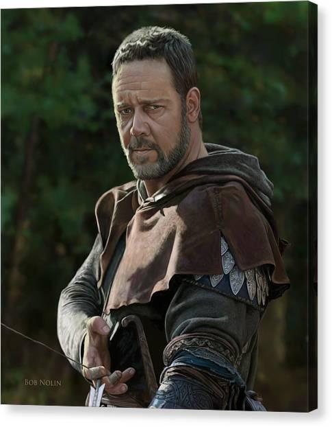Russell Crowe As Robin Hood Canvas Print