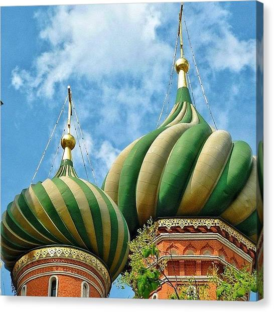 Orthodox Art Canvas Print - #russia #moscow #dome#orthodox by Helen Vitkalova