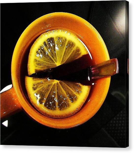 Lemons Canvas Print - #russia #porusski #yellow #colorful by Tatyana Radygina