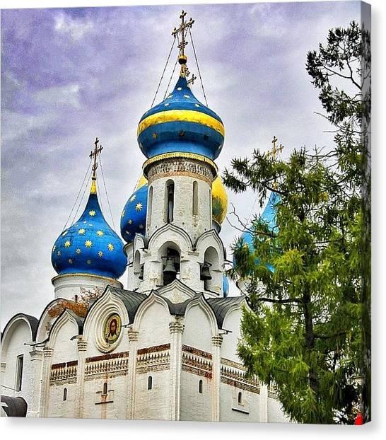 Orthodox Art Canvas Print - #russia #russianarchitecture #orthodox by Helen Vitkalova