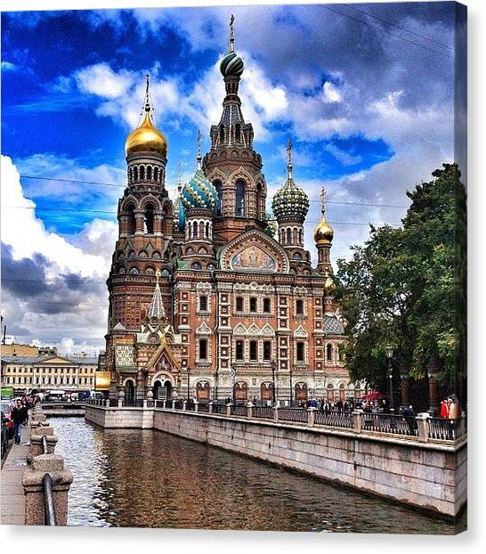 Baroque Art Canvas Print - #russia #stpetersburg #history #pubquiz by Chris E