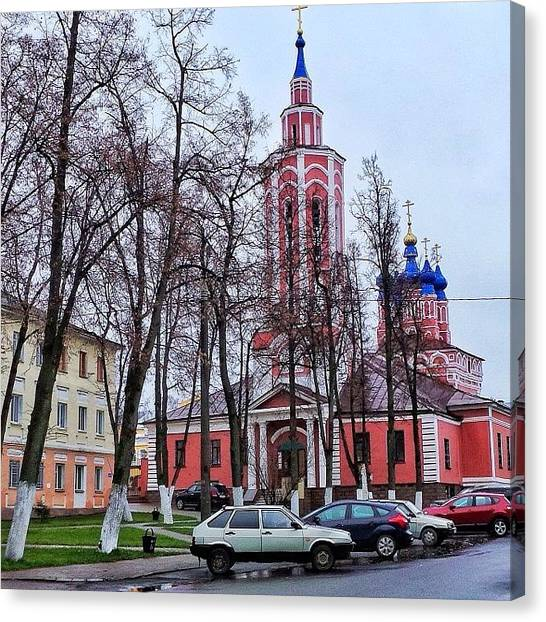 Orthodox Art Canvas Print - #russia#kaluga#church by Helen Vitkalova