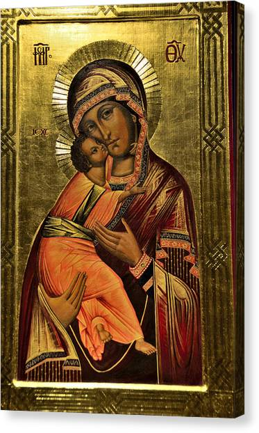 Russian Icon  Our Lady Of Vladimir Canvas Print