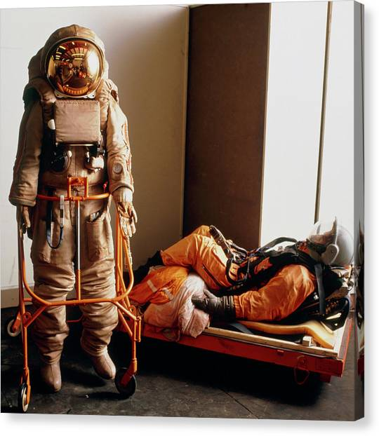 Space Suit Canvas Print - Russian Space Memorabilia by Seth Joel/science Photo Library