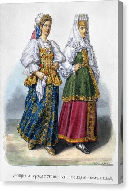 Carousel Collection Canvas Print - Russian Women by Granger