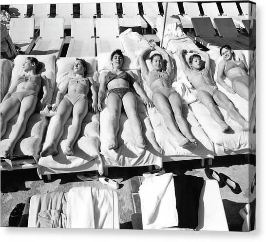 Bikini Canvas Print - Russia's Women's Olympic Gymnastics Team by Duane Michals
