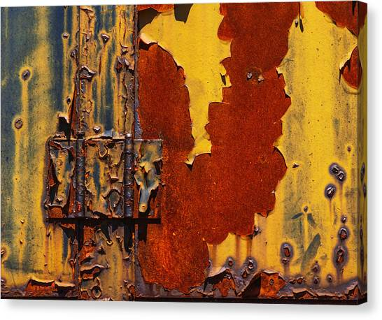 Peel Canvas Print - Rust Abstract by Jack Zulli