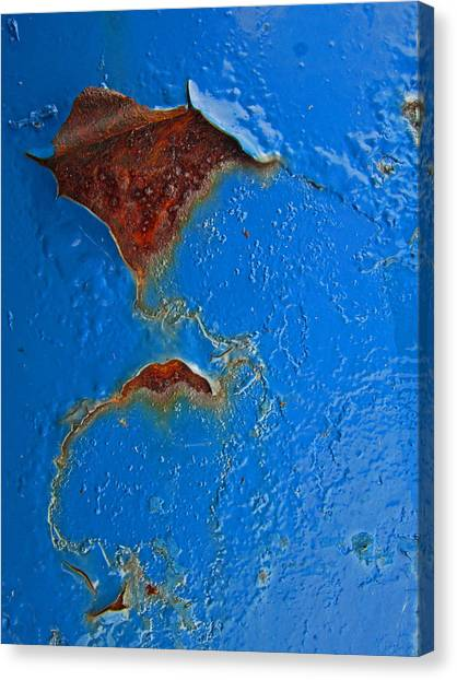 Rust Abstract Canvas Print by Mary Bedy