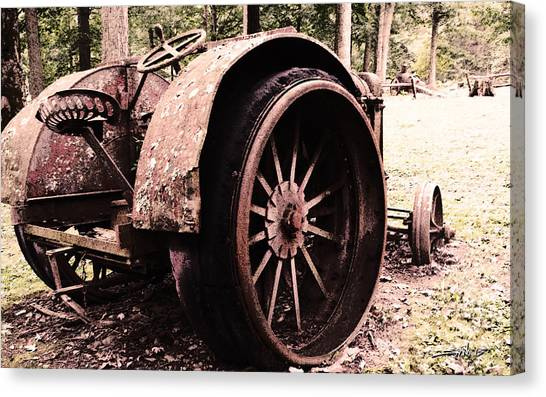 Rusted Big Wheels Canvas Print