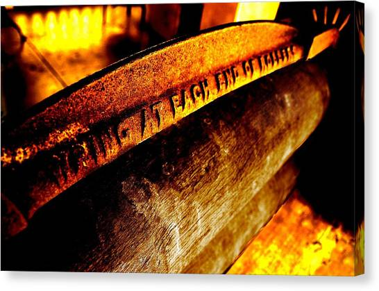 Canvas Print featuring the photograph Rusted Mangle by David Rich