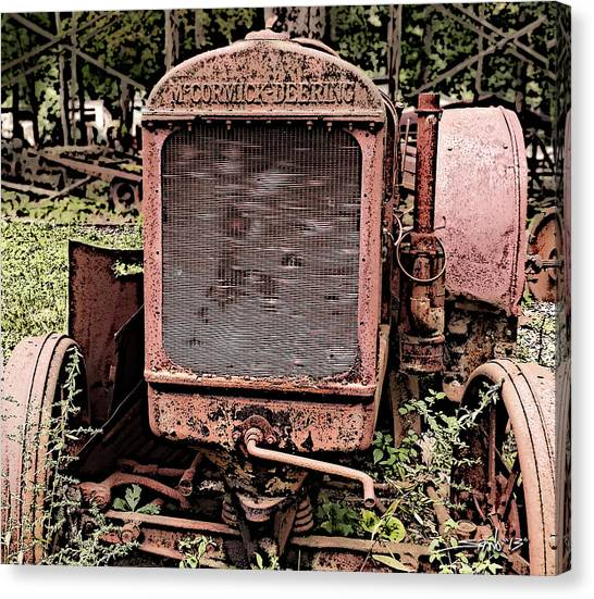 Rusted Mc Cormick-deering Tractor Canvas Print
