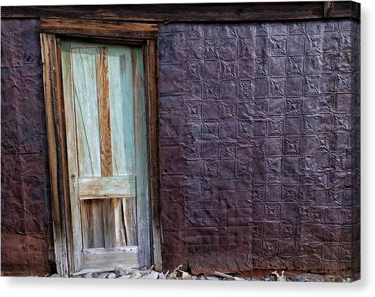 Bishop Hill Canvas Print - Rusted Tin Exterior In Bodie by Kathleen Bishop