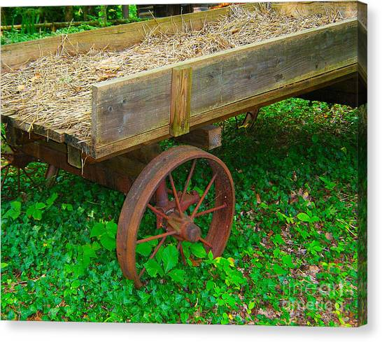 Rusted Wagon Wheel Canvas Print