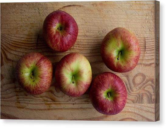 Rustic Apples Canvas Print