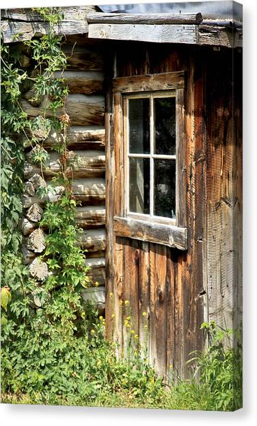 Rustic Cabin Window Canvas Print