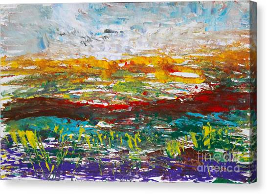 Rustic Landscape Abstract Canvas Print
