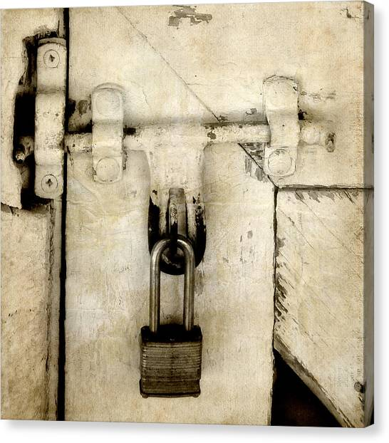 Rustic Lock Out Canvas Print