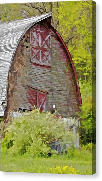 Rustic Red Barn II Canvas Print