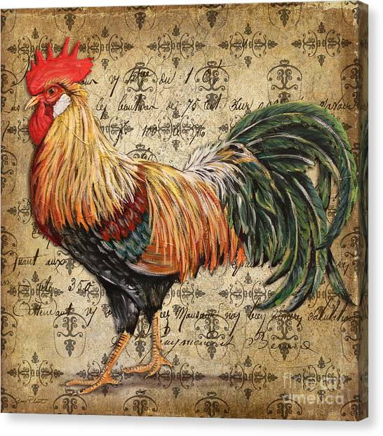 Rustic Rooster-jp2121 Canvas Print