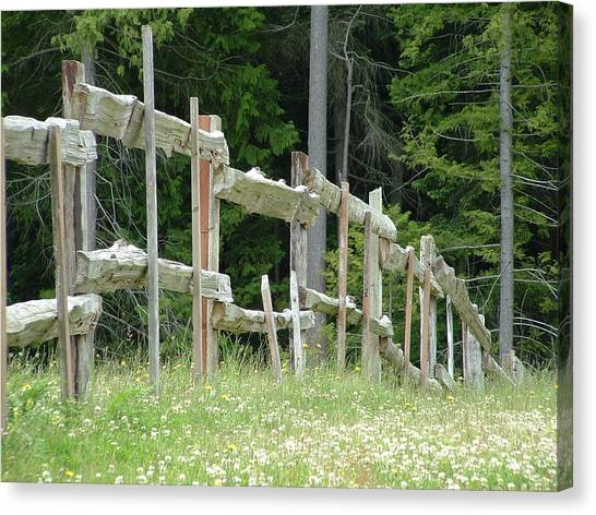 Canvas Print - Rustic Wooden Fence by Christine Rivers