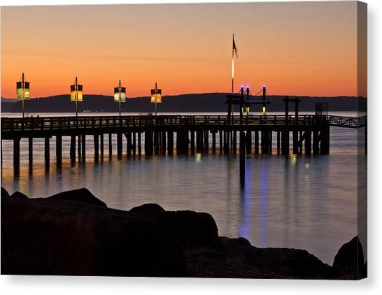Ruston Way Tacoma Sunset Canvas Print