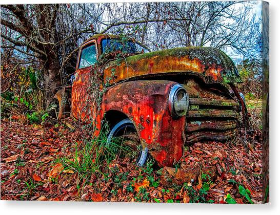 Rusty 1950 Chevrolet Canvas Print