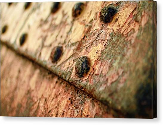 Canvas Print featuring the photograph Rusty Bolts by Steve Stanger