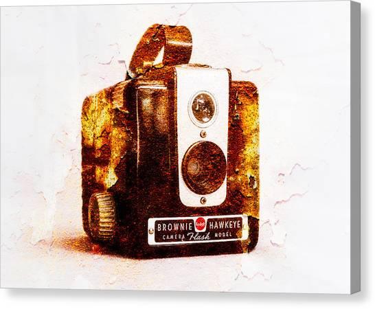 Vintage Camera Canvas Print - Rusty Brownie by Jon Woodhams