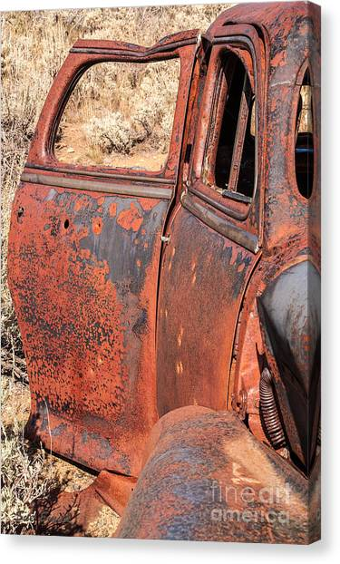 Rusty Doors Canvas Print