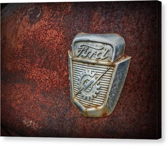 Rusty Truck Canvas Print - Rusty Ford by Linda Unger