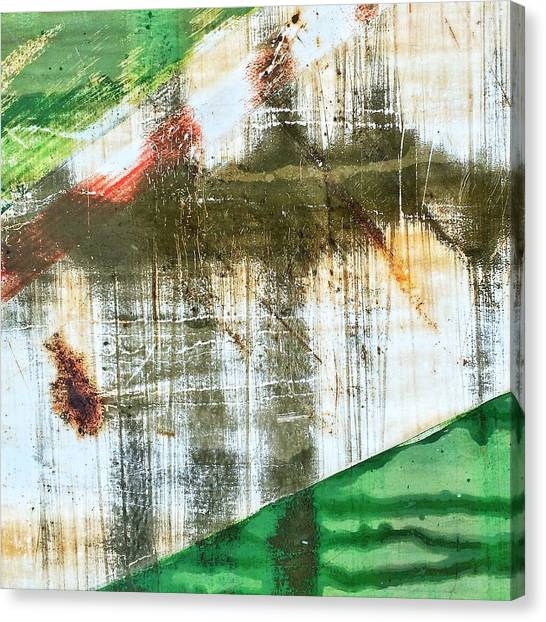Old Age Canvas Print - Rusty Green by Rene Constantin
